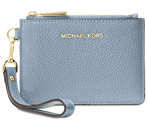 MICHAEL Michael Kors Mercer Leather Coin Purse - Pale Blue by MICHAEL Michael Kors