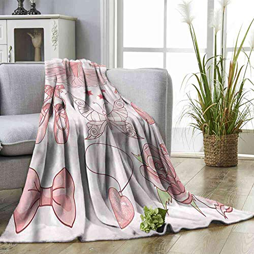 ZSUO Blanket Princess,Costume Shoes Tiara Roses Bed Blanket Size:50