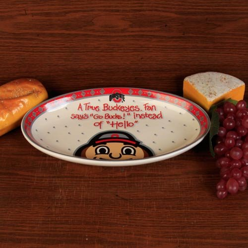 The Memory Company NCAA Ohio State University Official True Fan Platter, Multicolor, One Size - 1 Platter