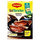 Maggi So Tender Paprika Chicken Seasoned Cooking Papers (4 per pack - 23g) - Pack of 2