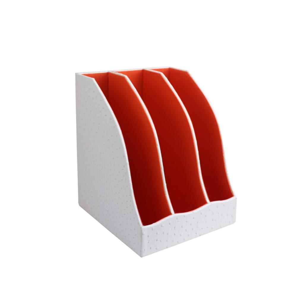 Archivadores ZHJING ZHJING Archivadores Escritorio Cuero Suministros de Oficina Cajón Caja de Almacenamiento Gabinete de Acabado Acabado (Color : Blanco) 8af4bd
