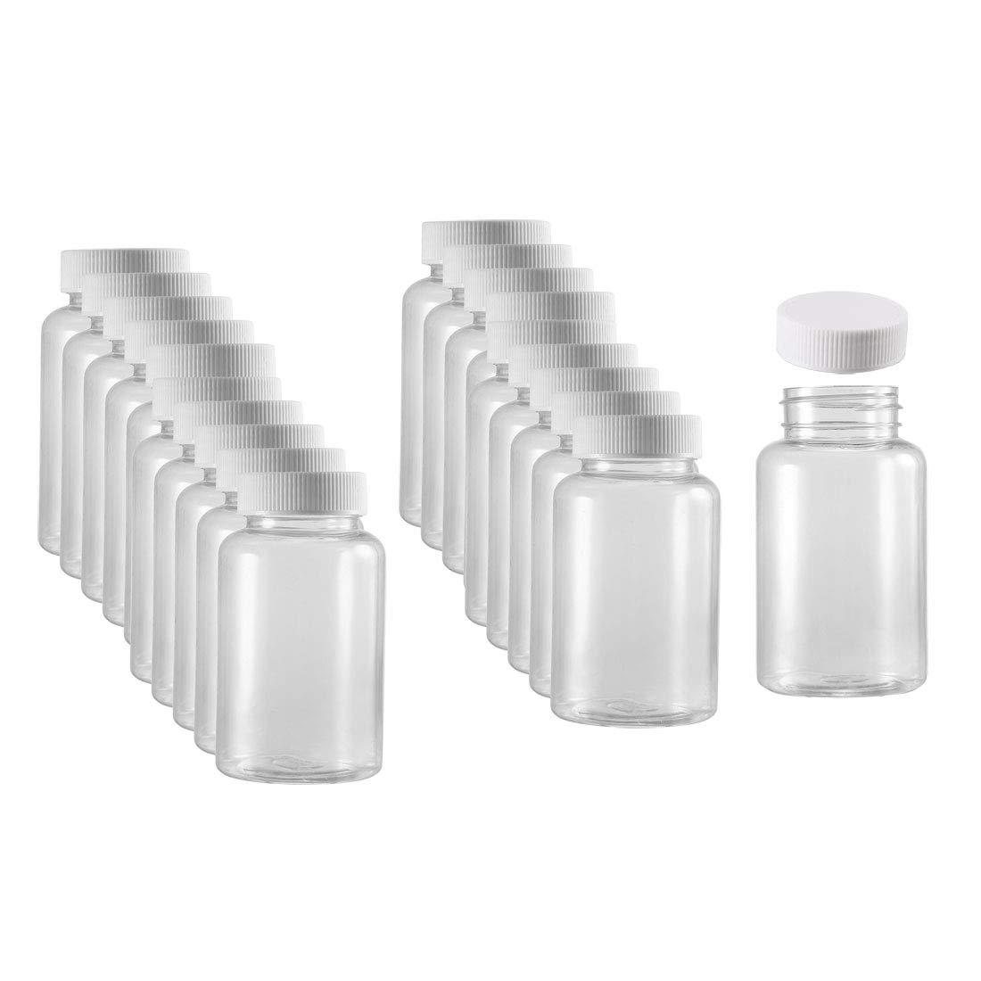 uxcell Plastic Lab Chemical Reagent Bottle 200ml/6.8oz Wide Mouth Sample Sealing Liquid Storage Container 20pcs by uxcell