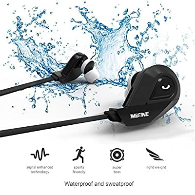 Bluetooth Headphones,Wireless Headset Stereo Bluetooth V4.1 Earbuds Sweatproof Sports Earphones with Built in Microphone for iPhone iPad Android and More
