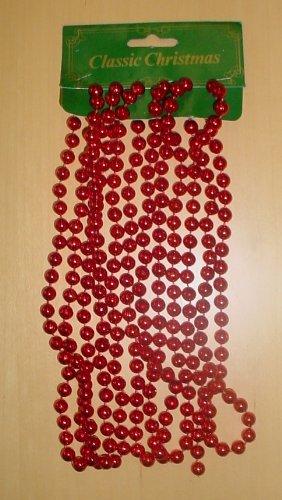 classic christmas red christmas bead garland approximately 160cm long mi12 - Christmas Bead Garland