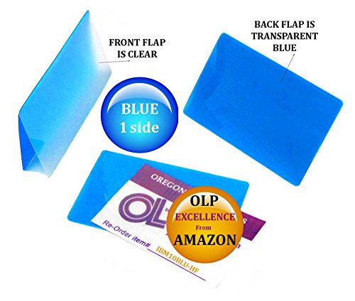 Oregon Lamination Hot Laminating Pouches IBM Card (pack of 50) 10 mil 2-5/16 x 3-1/4 Blue/Clear by Oregon Lamination Premium