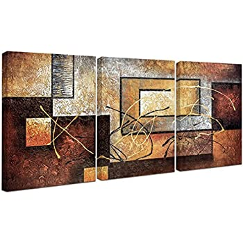 Amazon.com: Phoenix Decor-Abstract Canvas Wall Art Paintings on ...