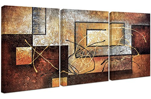 Phoenix Decor-Abstract Canvas Wall Art Paintings on Canvas for Wall Decoration Modern Painting Wall Decor Stretched and Framed Ready to Hang 3 Piece Canvas Art by Phoenix Decor