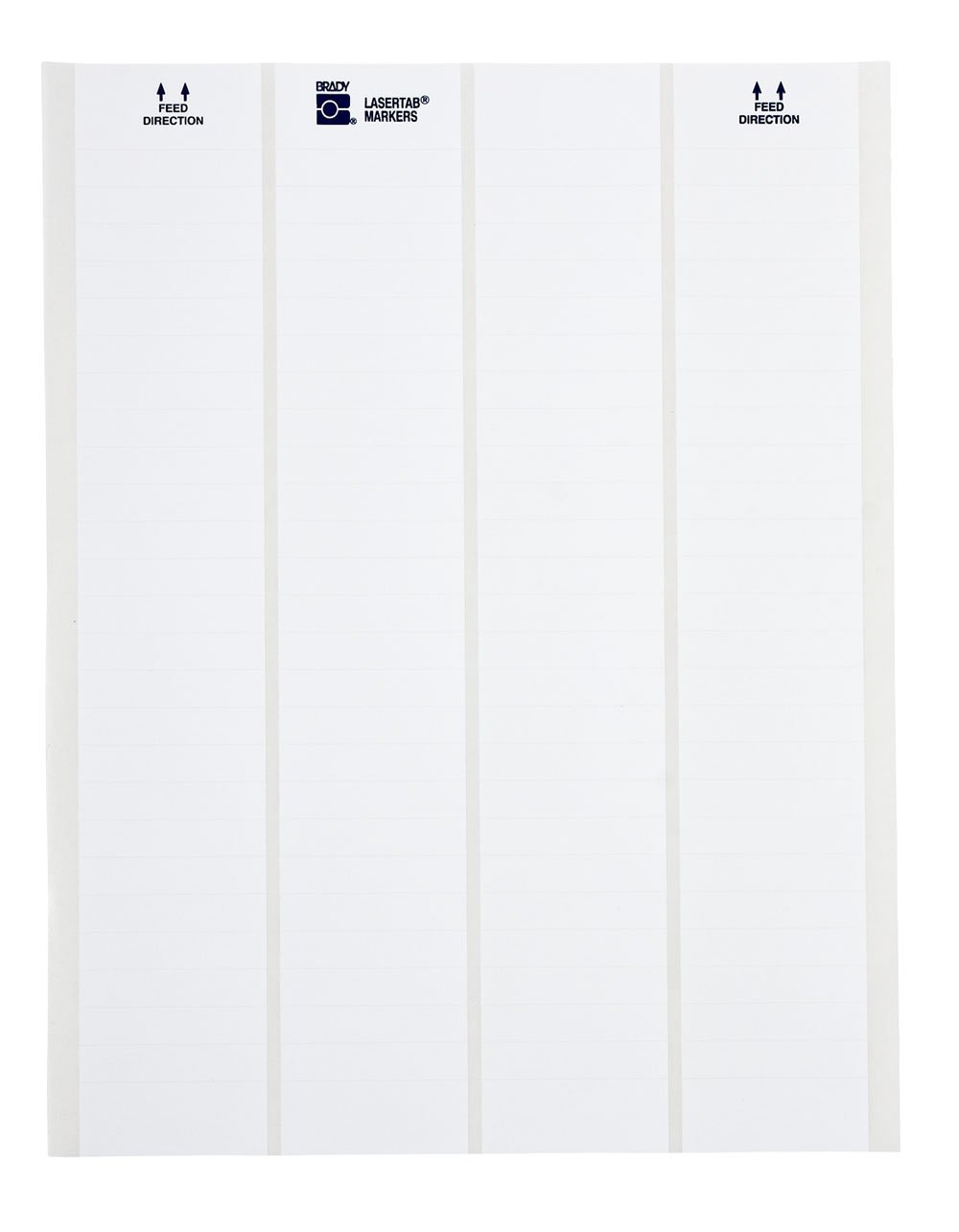 Brady LAT-21-707-1 2.5'' Width x 1'' Height, B-707 Rough Surface Polyester, Matte Finish White Lasertab Laser Printable Label (Pack of 1000)