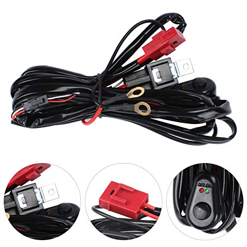Shoze LED HID Wiring Loom Harness Spot Work Driving Light Bar 12V 40A Relay Switch Kit: Amazon.co.uk: Kitchen & Home