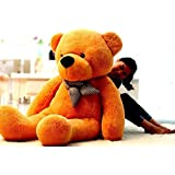 Click4Deal Stuffed Spongy Teddy Bear Cuddles Soft Toy for Kids, Brown (5 Feet)