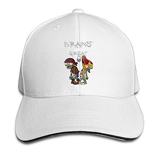 Price comparison product image Plants VS Zombies Symbol Brains ARE About Time Adjustable Unisex Hats Visor Hats Sanwich Bill Caps