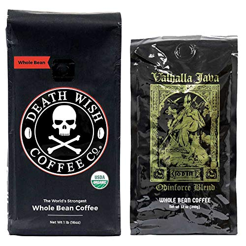 Death Wish & Valhalla Java Whole Bean Coffee Bundle Deal