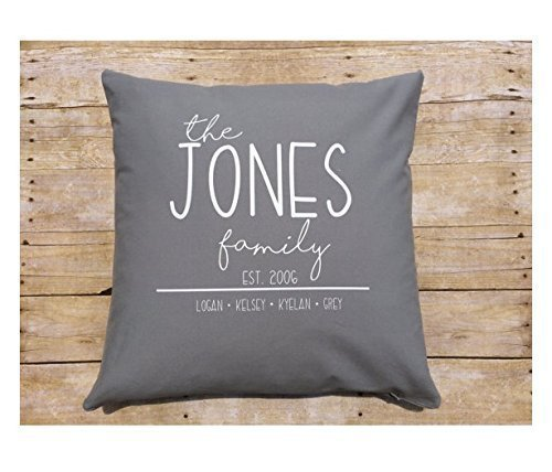 Personalized Family Pillow cover , Custom Christmas gift , 16x16 in home throw pillows , gift for her , family presents , holiday exchange, Christmas Gift for Family