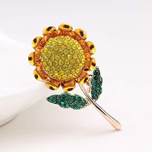 Beautiful Sunflower Shape Rhinestone Fashion Jewelry Brooch Gift Lapel Pin
