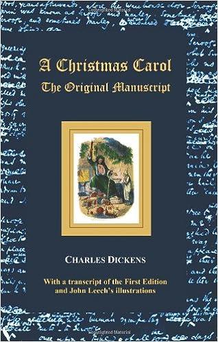 Who Wrote A Christmas Carol.A Christmas Carol The Original Manuscript With Original