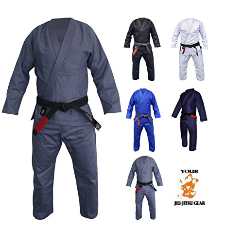 Your Jiu Jitsu Gear Brazilian Jiu Jitsu Premium Uniform A2 Grey