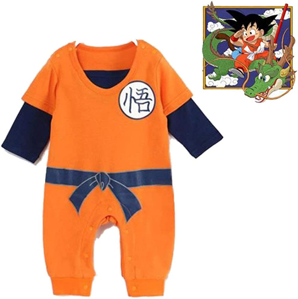 SIPEIEN Baby Boys Girls Romper Cosplay Costume One Piece Goku-Inspired Infant Outfit Jumpsuit Clothes