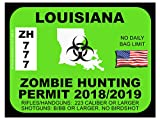 Louisiana Zombie Hunting Permit(Bumper Sticker)