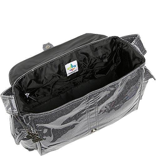 Kalencom Laminated Buckle Bag, Black Crystals by Kalencom (Image #2)