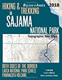 Hiking & Trekking in Sajama National Park Bolivia Andes Topographic Map Atlas Both Sides of the Border Lauca National Park (Chile) Parinacota Volcano ... Map (Travel Guide Hiking Trail Maps Bolivia)