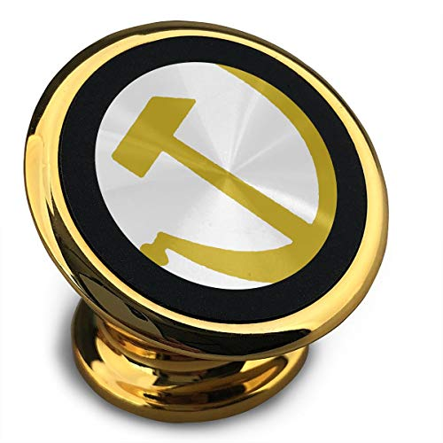 (DaXi1 Hammer and Sickle Universal Yellow Smartphone Car Mount Holder Cradle for iPhone Xs Max R X 8 Plus 7 Plus 6S Samsung Galaxy S9 S8 Edge S7 S6 LG Sony and More)