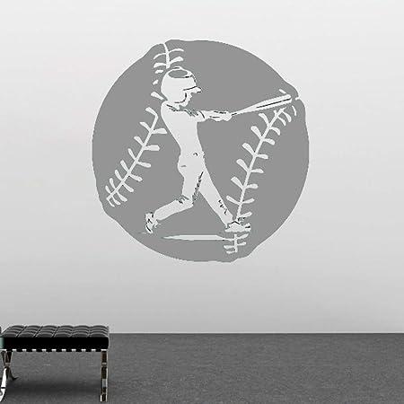 Zaosan Mural de Pared con Gran patrón de Arte de béisbol Pegatinas ...