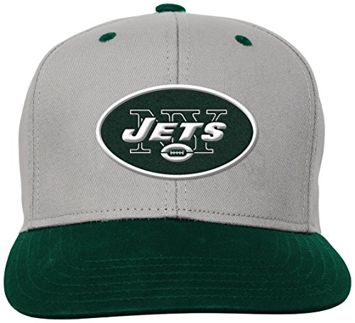 Outerstuff NFL Boys 4-7 Team Flatbrim Snapback Hat-Hunter-1 Size, New York Jets