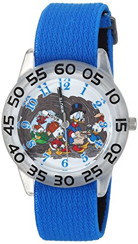 Disney Boy's 'Duck Tales' Quartz Plastic and Nylon Casual Watch, Color:Blue (Model: WDS000272)