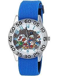 Boy's 'Duck Tales' Quartz Plastic and Nylon Casual Watch, Color:Blue (Model: WDS000272)