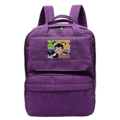 Women's Teen Titans Backpack Daypack Purple