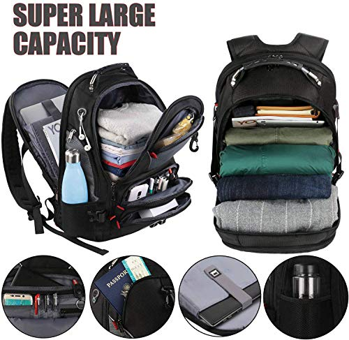 Travel Backpacks for Men, Extra Large Laptop backpack with USB Charging Port, 50L TSA Friendly Water Resistant Business College School Bookbags Fits