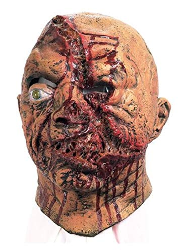 Ovedcray Costume series Slashed Face Gruesome Halloween Mask -