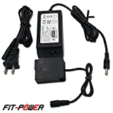 FIT-POWER DMW-DCC8 DC Coupler & DMW-AC8 AC Adapter kit , ( PANASONIC DMW-BLC12 Battery Replacement ) for PANASONIC DMC-FZ200 FZ300 FZ1000 FZ2500 GH2 G5 G6 G7 Lumix GX8 G85 Digital Camera