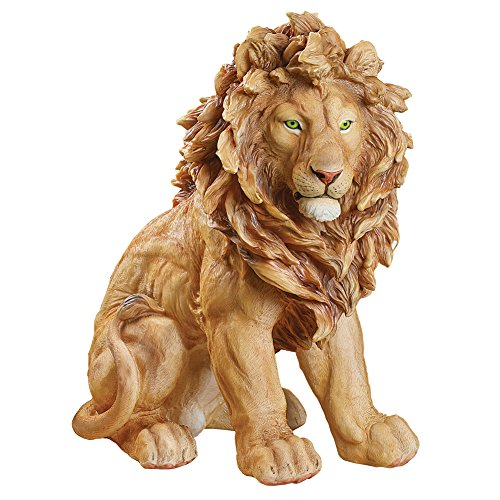 (Collections Etc King of The Jungle Lion Garden Statue for Outdoor or Indoor Decorative Accent)