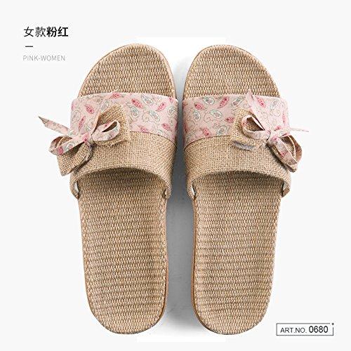 silenzioso uomini matura anti estate slittamento soggiorno in 36 donne interno Fankou 35 pavimenti cool nbsp;Biancheria home legno pantofole rosa e pantofole stagioni tqwPSPY