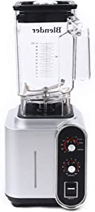 Countertop Blender, 1500W Timer & 10-Speeds Professional High-Speed Blender 24000r/min Commercial Ice Crush, Blender for Making Smoothies, Juices, Powdered Powder, Ground Meat, Milkshakes