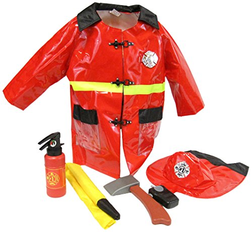 Little Big World Firefighter Deluxe Costume (Deluxe Firefighter Costume)
