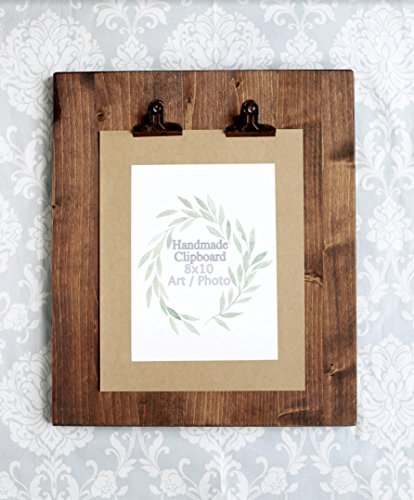 Amazon.com: Rustic Wooden Picture Clipboard Display - Picture Frame ...