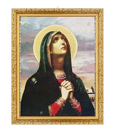 FengMicon Religious Icon Mother Mary Catholic Gift Christian Tapestry Framed by FENGMICON
