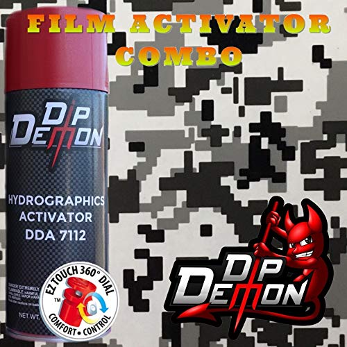 Hydrographic Film Camouflage Combo Kit Urban Digital Camo Camouflage Winter Snow Military Clear Background Transparent Hydrographic Water Transfer Film Activator Combo Kit Hydro Dipping Dip Demon