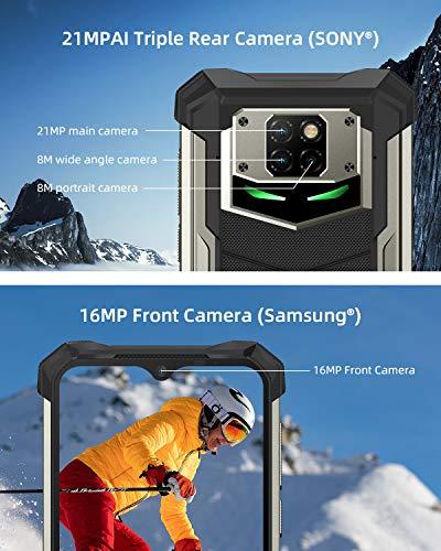 "Telephone Portable Incassable, DOOGEE S88 Pro Smartphone Incassable 4G, 10000 mAh,6.3""FHD, 6Go+128Go, 21MP + 16MP Caméra… 5"