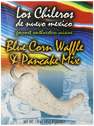 Los Chileros Blue Corn Pancake and Waffle Mix, 16 Ounce