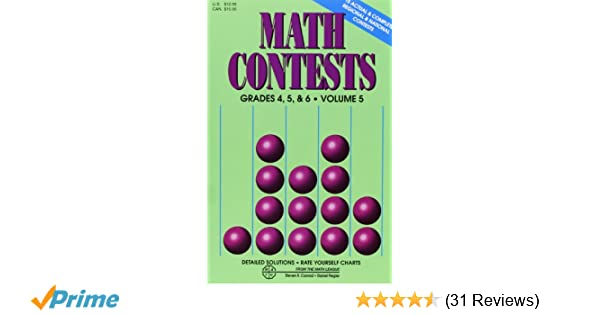 Amazoncom Math Contests Grades 4 5 6 Vol 5 9780940805156