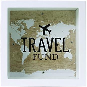 Splosh Change Box Coin Money Savings Fund Jar Container for Dream Fulfillment (Travel Fund)