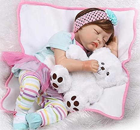 Amazon.com: Pinky 55 cm 22 inch Dormir Muñeca True Looking ...