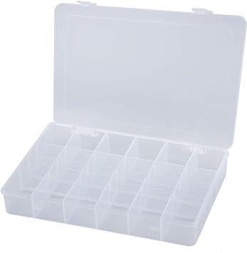 Joyfeel buy - Caja de almacenamiento de plástico transparente con 36 rejillas para guardar joyas, cuerda de cabeza o objetos pequeños: Amazon.es: Bricolaje y herramientas