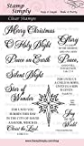 Stamp Simply Clear Stamps Religious Merry Christmas 4x6 Sheet - 10 Pieces