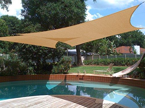 Cheap  Shade&Beyond Sun Shade Sail Rectangle 10'x13' UV Block for Yard Patio Lawn..