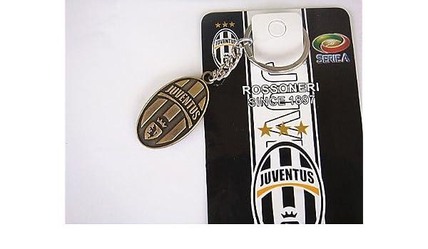 Juventus FC llavero (2 piezas) Metal bronce: Amazon.es ...