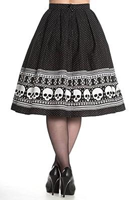 Hell Bunny Clara Rockabilly 50s Skull Skirt